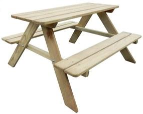 vidaXL Detský piknikový stôl 89x89,6x50,8 cm, FSC borovica