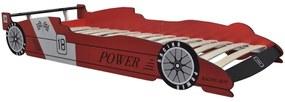 242752 vidaXL detská posteľ pretekárske auto 90x200 cm červené
