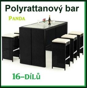 Záhradný ratanový nábytok Bar set Panda
