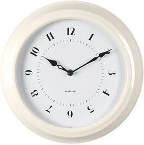 KARLSSON Nástenné hodiny Fifties biele