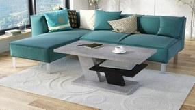 CLIFF betón / čierny, konferenčný stolík