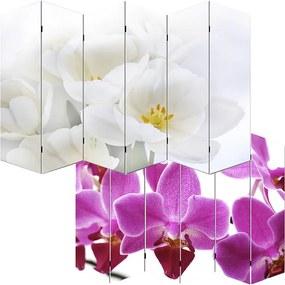 Dizajnový paravan WH orchidei 240x180 cm (6-dielny)