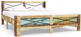 247667 Edco Rám postele z masívneho recyklovaného dreva 160x200 cm