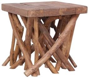 vidaXL Konferenčný stolík z polien 40x40x40 cm drevený masív