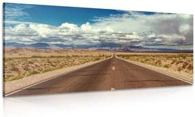 Obraz cesta v púšti