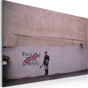 Obraz na plátne - Follow your dreams: cancelled (Banksy) 60x40 cm