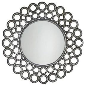 Cercle zrkadlo v ráme, 80x80cm, strieborná IN138