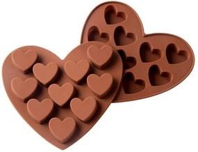 B2B Silikónová forma na čokoládu - srdce