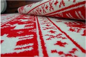 Kusový koberec Vianočné motívy červený, Velikosti 100x170cm