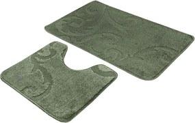 Kúpeľňové predložky set 2 kusov Esme zelené