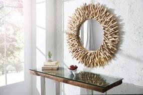 Nástenné zrkadlo Riverside 80 cm z prírodného dreva