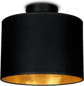 Čierne stropné svietidlo s detailom v zlatej farbe Sotto Luce MIKA, Ø 25 cm