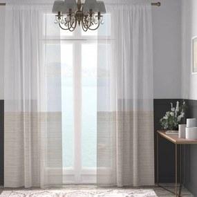XPOSE ® Záclona ARTEMIS - světle hnědá 150x250