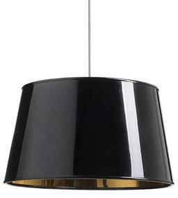 RENDL R13344 RIDICK tienidlo na lampu, univerzálne tienidlá lesklá čierna zlatá fólia