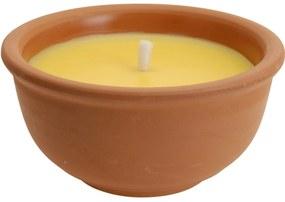 Repelentná sviečka Citronella v keramickom obale, 123 gramov