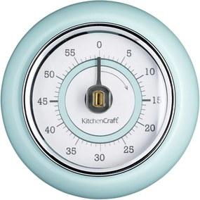 Modrá kuchynská magnetická minútka Kitchen Craft Living Nostalgia, ⌀ 7,5 cm