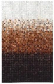 TEMPO KONDELA Typ 7 kožený koberec 70x140 cm vzor patchwork