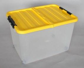HEIDRUN Box úložný pojazdný 34 x 52 x 36,5 cm, 45 l, modrá 1610m