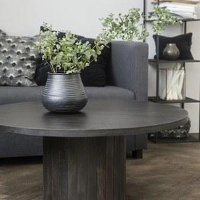 HOUSE DOCTOR Čierny kávový stolík Pillar