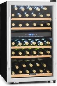 Klarstein Vinamour 40D, 135 l, chladiaca vinotéka, 2 zóny, 41 fliaš, predná strana z nehrdzavejúcej ocele