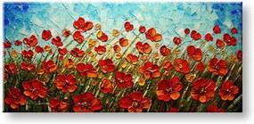Ručne maľovaný obraz KVETY BI0027E1