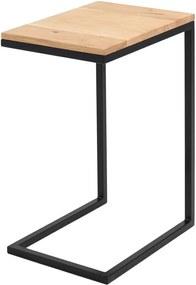 Odkladací stolík s čiernou konštrukciou Custom Form Lupe