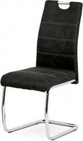 Sconto Jedálenská stolička ZOEY čierna/kov