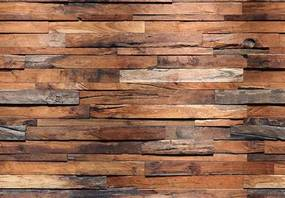 Fototapety, rozmer 366 x 254 cm, drevená múr, W+G 00150