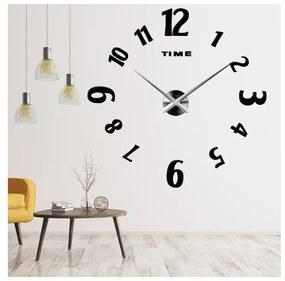 X-momo Moderné nástenné hodiny CHARLIE S035 čierne
