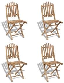 vidaXL Skladacie bambusové stoličky 4 ks (41498 x 2)