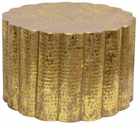 Dizajnový konferenčný stolík Gwendolyn 60 cm zlatý