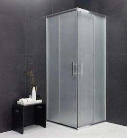 MEXEN RIO - Štvorcový sprchovací kút 90x90 cm, matná, 860-090-090-01-30