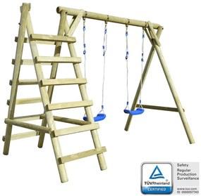 vidaXL Súprava hojdačiek s rebríkmi 268x154x210 cm, FSC borovica