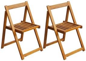 vidaXL Skladacie záhradné stoličky 2 ks, akáciový masív
