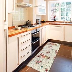 Vysokoodolný kuchynský koberec Webtappeti French Garden, 60 x 140 cm