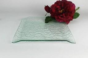 Priehľadný sklenený vzorovaný tanier 24 cm