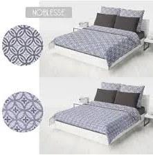 Domarex Prehoz na posteľ Obojstranný Noblesse Strieborná/Sivá Veľkosť: 200 x 220 cm