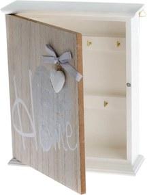 Nástenná drevená skrinka na kľúče Dakls Ruseno