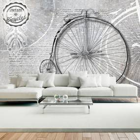 Fototapeta - Vintage bicycles - black and white 300x210
