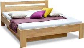 DREVONA Manželská posteľ z bukového masívu 180x200 MATE 2
