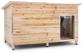 Schloss Wuff, búda pre psa, veľkosť L, 90 x 120 x 90 cm, izolovaná, závetrie, drevo