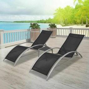 SET 2KS Relaxačných ležadiel a stola Avenberg Dolfin