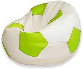 EMI Sedací vak futbalová lopta bielo-limetková 335 litrov