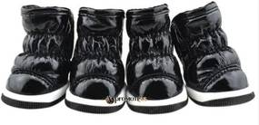 PETOP Zimné zateplené čierne čižmy Lovely pre psov XL