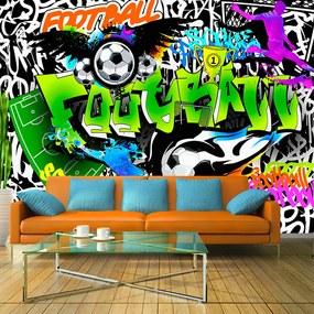 Fototapeta Bimago - Football Graffiti + lepidlo zadarmo 250x175 cm