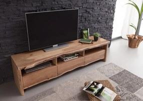 Bighome - WOODLAND TV stolík 191x50 cm, prírodná, akácia