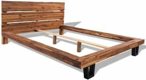 244997 Edco Rám postele z masívneho agátového dreva, 140x200 cm