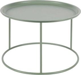 Svetlozelený konferenčných stolík WOOOD Ivar, Ø 56 cm