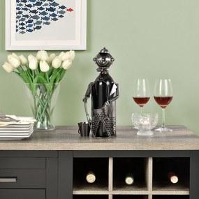 [en.casa]® Stojan na víno - rybár HTWH-6602