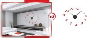 Veľké nástenné nalepovacie hodiny čísla 4 (Nalepovacie hodiny)